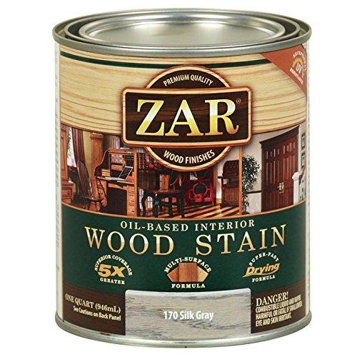 ZAR Oil-Based Wood Stain, 170 Silk Gray, (Oil Based Wood)