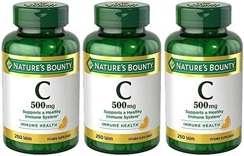 VIT C 500 mg, 3 Bottles (250 Count)