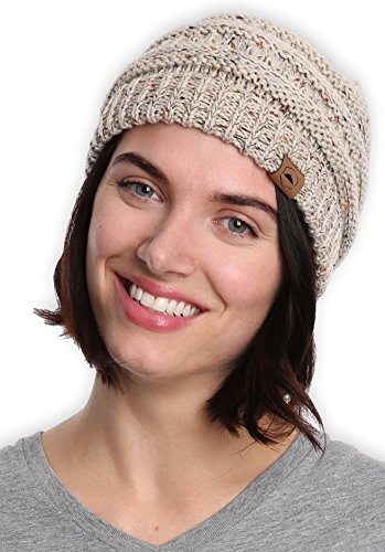 Tough Headwear Cable Knit Beanie - Thick, Soft & Warm Chunky