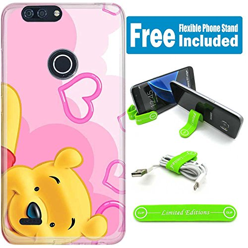 Pooh Telephone ([Ashley Cases] For ZTE Blade Z Max / ZMax Pro 2 /Sequoia Case Cover Case Skin with Flexible Phone Stand - winnie the pooh heart)