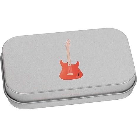 Azeeda 80mm x 50mm Guitarra Eléctrica Caja de Almacenamiento / Lata de Metal (