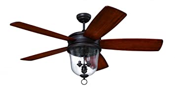 Craftmade fb60obg5 fredericksburg bronze five blade 60 ceiling fan craftmade fb60obg5 fredericksburg bronze five blade 60 ceiling fan with light walnut blades damp rated craftmade fredricksburg amazon aloadofball
