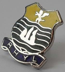 Gales Rhyl insignia Galesa (w0315) con cierre de mariposa