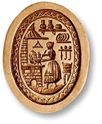 Woman in a Kitchen springerle cookie mold