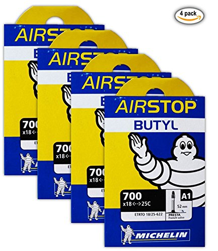 4-four-michelin-airstop-butyl-road-bike-tubes-700x18-23-25-52mm-presta-700c