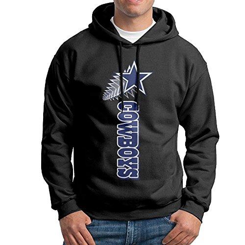 [SSDDFF Men's Dallas American Football Team Cowboys Hoodies Sweatshirt Size S Black] (Mens Dallas Cowboy Football Costumes)