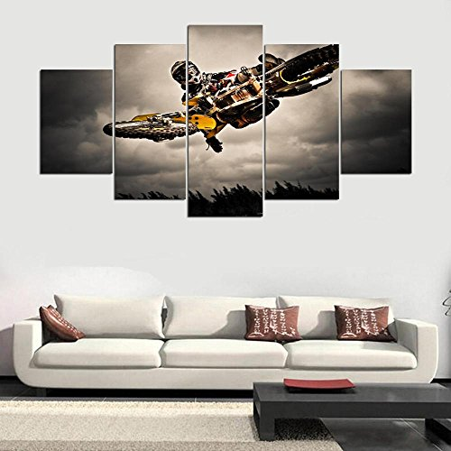 [LARGE] Premium Quality Canvas Printed Wall Art Poster 5 Pieces / 5 Pannel Wall Decor Top-Rated Painting, Home Decor Pictures - With Wooden - Decor Quality Wall Top