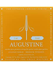 Augustine AUGGOLDSET Classic/Gold Nylon Classical Guitar Strings, Medium tension