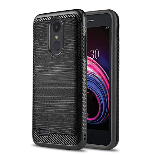 Phone Case for [LG Rebel 4 LTE (L212VL, L211BL)], [Modern Series][Black] Shockproof Cover [Impact Resistant][Defender] for Rebel 4 LTE (Tracfone, Simple Mobile, Straight Talk, Total Wireless) (Cell Tribute Lg Phone 4g Lte Case)