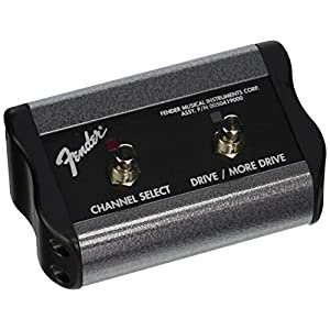 Fender Footswitch 2 Boutons Channel/Boost Connecteur Jack grey