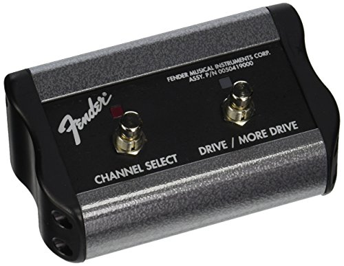 Fender 2-Button 3-Function Footswitch: Channel/Gain/More Gain with 1/4-Inch Jack