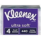 Kleenex Ultra Soft Facial Tissues, 4 Flat Boxes, 110 Tissues per Box (440 Count Total): more info
