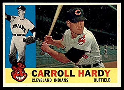 Amazon.com: 1960 Topps #341 Carroll Hardy Ex-Mint Indians ...