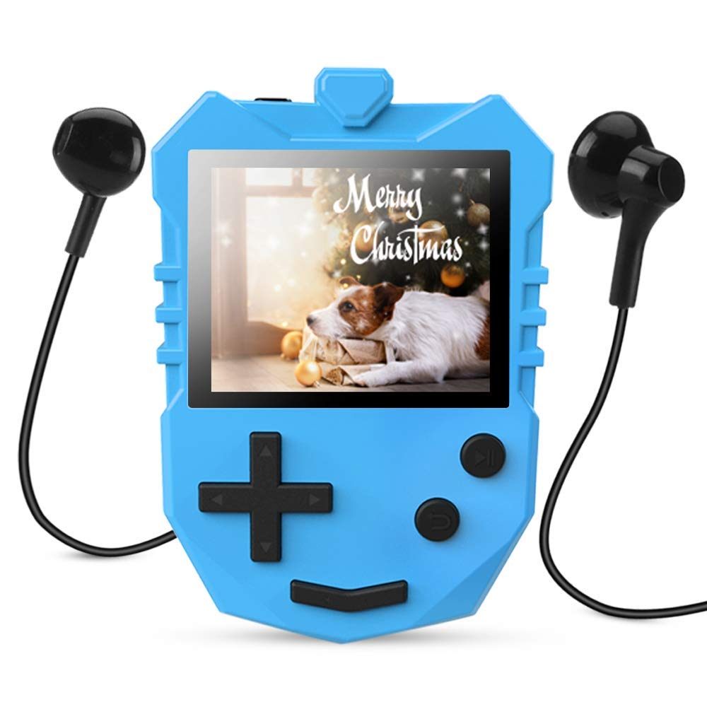 MP3 Player for Kids, AGPTEK K1 Portable 8GB Children Music Player with Built-in Speaker, FM Radio, Voice Recorder, Expandable Up to 128GB, Blue, Upgraded Version by AGPTEK (Image #1)