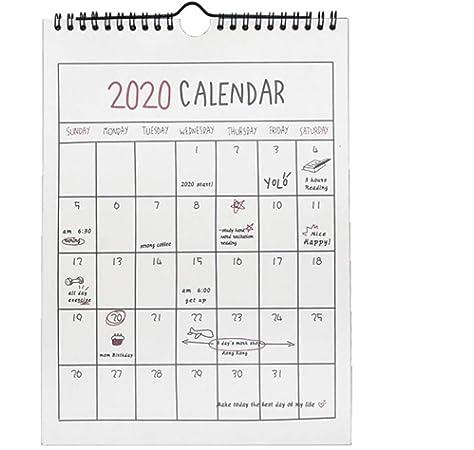 RecoverLOVE Calendario de Pared 2020, Calendario de Pared mensual ...