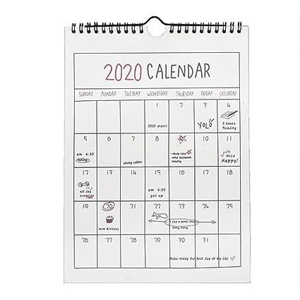 Calendrier Mensuel 2019 2020.Tingtin 2019 2020 Calendrier Mural Pour Home Planner Calendrier De Bureau Independant Pour Le Planificateur Familial Pour L Annee Scolaire Commence