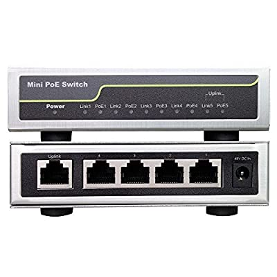 Fast Mini Ethernet Network Switch IEEE 802.3af/at Industrial PoE Switch 4+1 Port