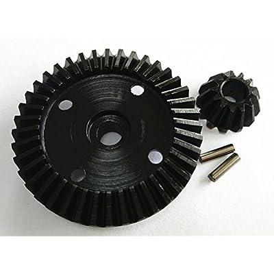 CrazyRacer Harden Steel Bevel Gear 40T & 13T for H-P-I Bullet ST MT Savage XS WR8 Flux 101215 101216: Toys & Games