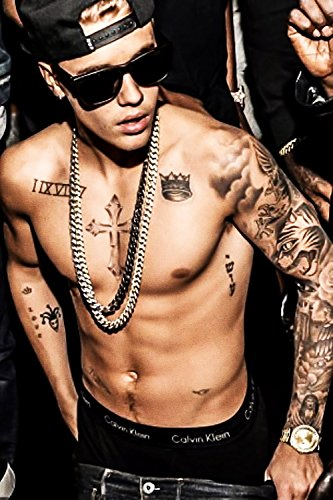 TST INNOPRINT CO Justin Bieber Tattoo Shirtless Poster 19x13 (Justin Bieber Picture Frame)