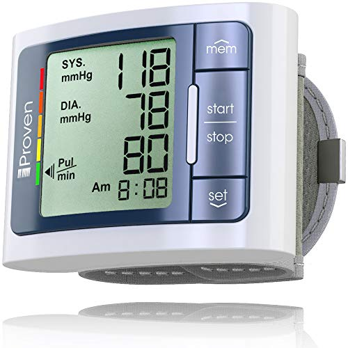 iProvèn Wrist Blood Pressure Monitor Watch - Digital Home Blood Pressure Meter - Manual Blood Pressure Cuff - Clinically Accurate & Fast Reading - BPM-337 by iProvèn, Grey