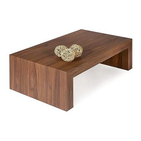 Tavolino X Salotto.Mobili Fiver Tavolino Da Salotto First H30 Noce Canaletto 90 X