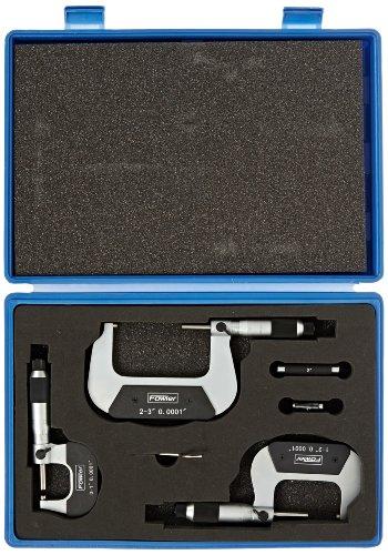 Fowler 52-229-780 Indicator  Mag Base  Dial Caliper  U0026 Micrometer Combo Set