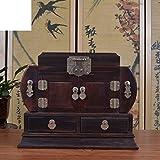 mahogany jewelry box Chinese wedding jewelry box red rosewood wooden hand jewelry storage cassette locks