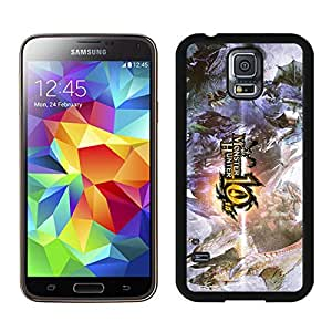 Monster Hunter Black Samsung Galaxy S5 Screen Cover Case Newest and Fashion Design
