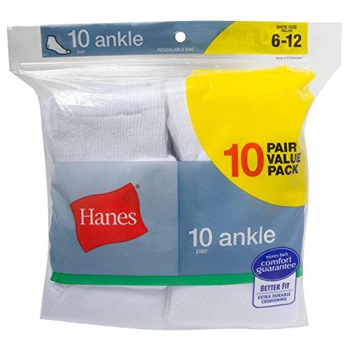 Hanes Men's 10 Pack Ankle Socks