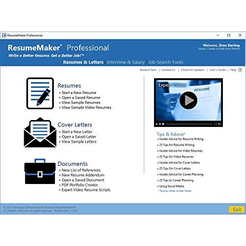 amazoncom resumemaker professional deluxe 20 indivudual software software