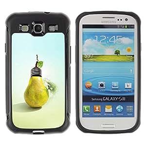LASTONE PHONE CASE / Suave Silicona Caso Carcasa de Caucho Funda para Samsung Galaxy S3 I9300 / Design Pear Bulb