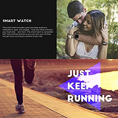 Bluetooth Smart Watch, Evershop 1.3 inches IPS Round Touch Screen Water Resistant Smartwatch Phone with SIM Card Slot, Sleep Monitor, Heart Rate Monitor and Pedometer for IOS and Android Device (gold)