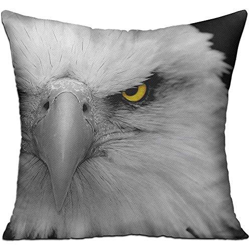 Jubenlcai Animals Bald Eagles Birds Throw Pillow Cover Decorative Pillow Case Square Cushion Home 18x18 Inch