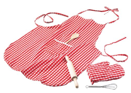 Happy People 47009 - Backschürze mit Handschuh/Kochlöffel/Teigroller