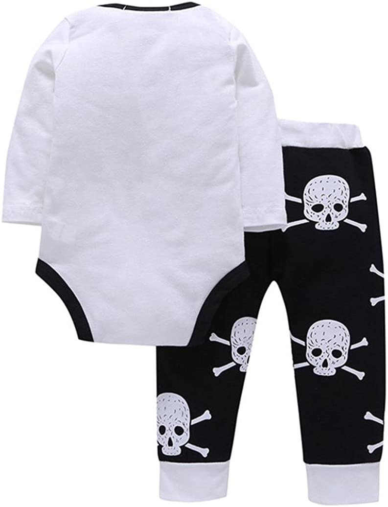 FORESTIME/_baby clothes boy FORESTIME Infant Baby Boys Girls Tops Long Sleeve T-Shirt Skull Pants 2Pcs Outfits Set