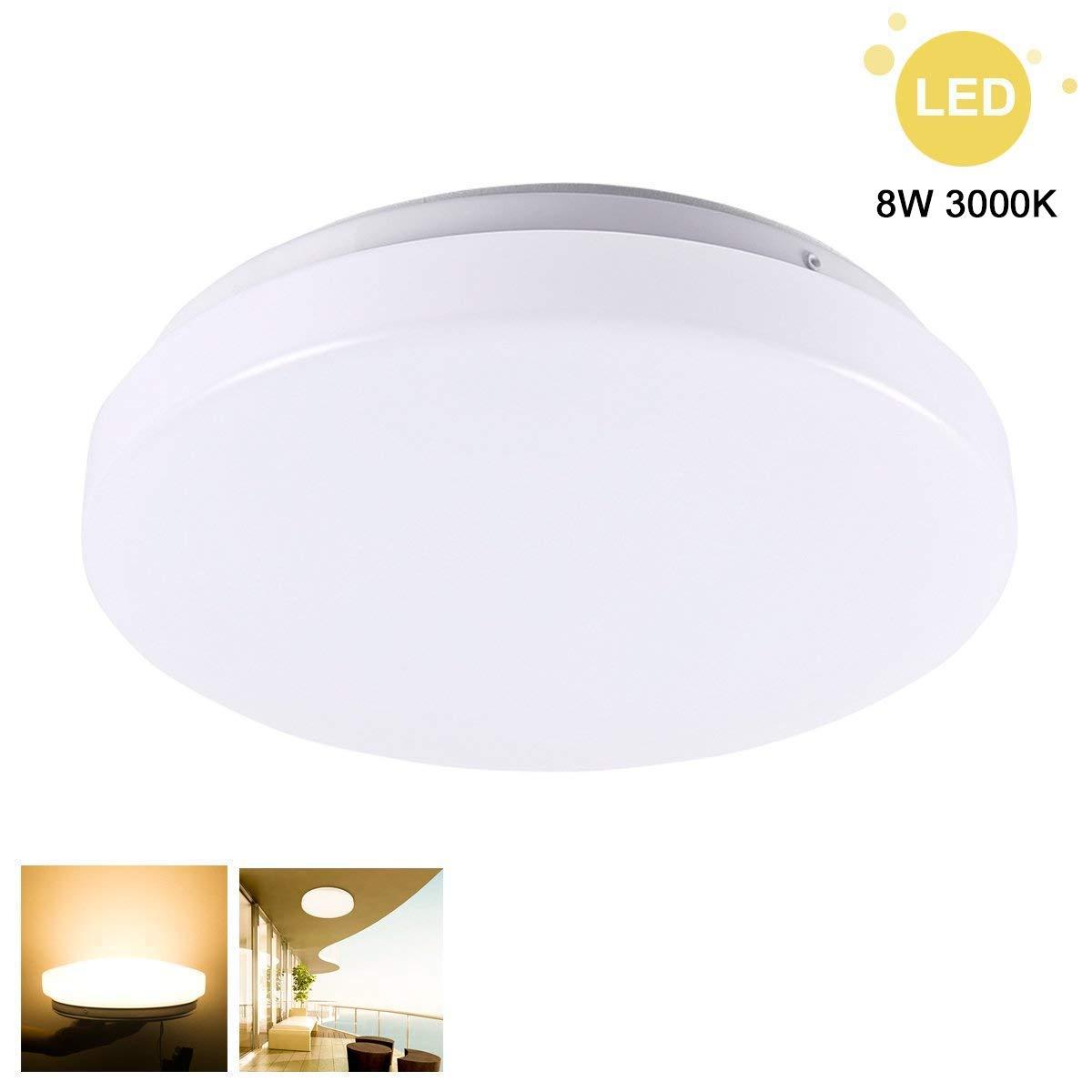ZHMA 18W Plafonnier LED Blanc Chaud Lampe De Plafond Impermable IP44 Luminaire Intrieur