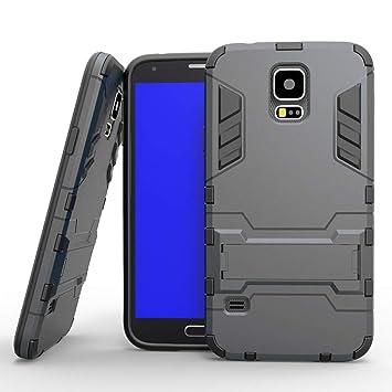 COOVY® Funda para Samsung Galaxy S5 SM-G900F SM-G901F Neo SM-G903F de plástico y Silicona TPU, extrafuerte, con protección contra Golpes, Funda con ...