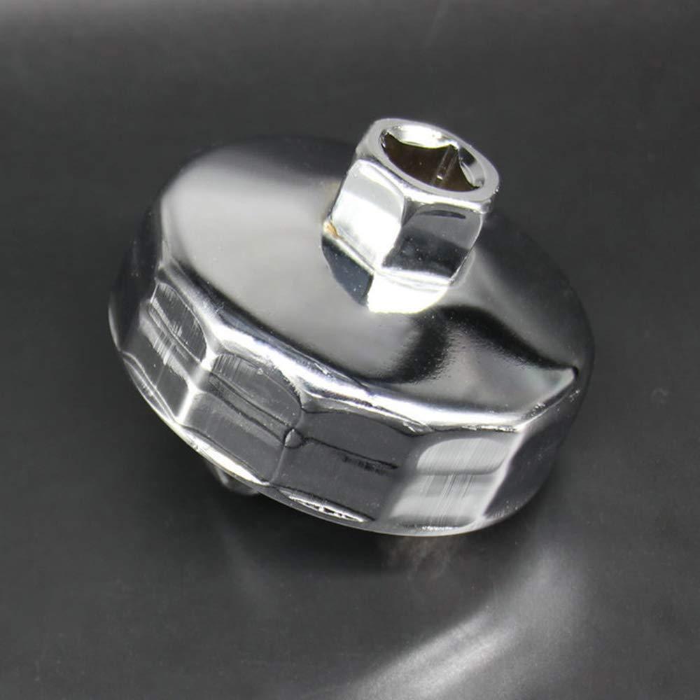Festnight 74mm 14 Flutes Oil Filter Wrench Cup Socket Type Cap Remover Tool for Volkswagen Mercedes Benz VW Audi Porsche