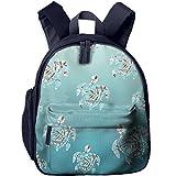 Watercolor Turtle In The Sea Printed Kids Backpack Toddler School Bags For Kindergarten