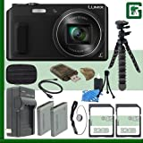 Panasonic Lumix DMC-ZS45 Digital Camera (Black) + 64GB Green's Camera Bundle 3