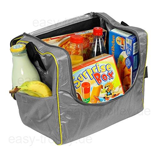 Einkaufstrolley Royal mit großen Rädern | Einkaufstasche Vektor schwarz / grau mit Kühlfach | extra Kühlbox | Trolley aus Alu M4SGPA