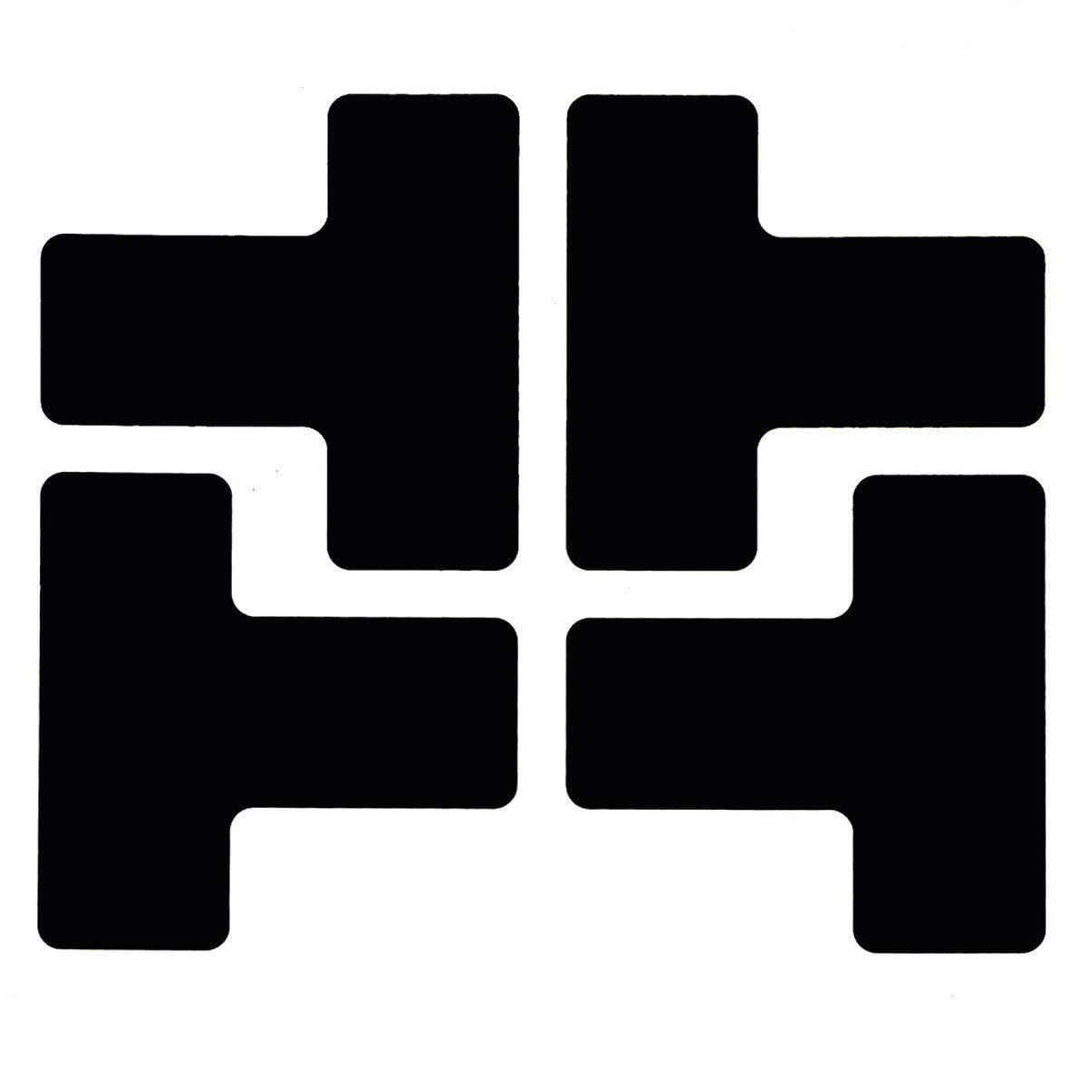 Brady 2'' Black .008'' B-514 Polyester Floor Marking Tape