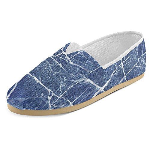 Interestprint Kvinners Loafers Klassisk Uformell Lerret Slip På Mote Sko Joggesko Leiligheter Slitt Denim Jeans Denim Jeans