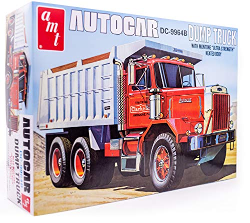 AMT Autocar Dump Truck - 1/25 Scale Model Truck Kit - Buildable Vintage Vehicle for Kids and Adults