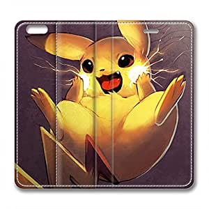 iCustomonline Leather Case for iPhone 6, Pikachu Ultimate Protection Leather Case for iPhone 6