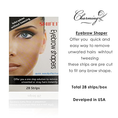 Instant Eyebrow Shapers Cold Wax Strips(28 Strips)