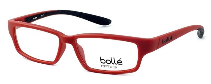 Amazon.com: Bolle Optical Volnay Matte Red & Black Eyeglass Frame ...
