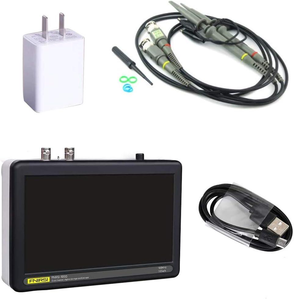 Digital Oscilloscope FNIRSI 1013D 2 Channel 1 GS//s LCD Touch Screen Tablet Oscilloscope 100MHz Bandwidth Black
