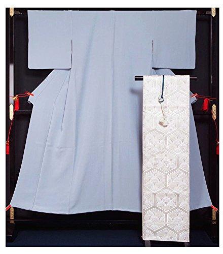 着物セット 色無地と西陣服部織物袋帯、帯〆の3点セット 紋無し 正絹 【中古 リサイクル着物 色無地 袋帯】