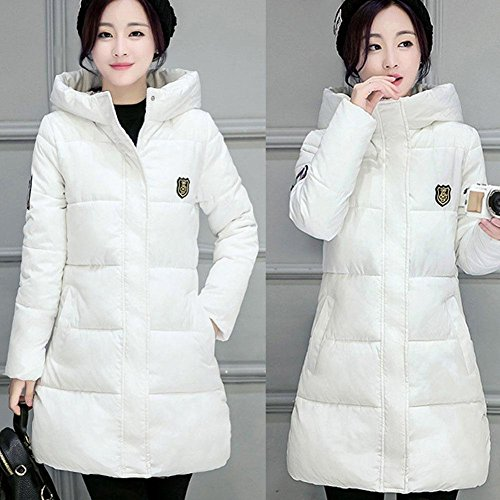 Winter Cotton Con Donna Capispalla Fashion Bianco Cappuccio Slim Down Coat Women Babyney 5g6qx1wpg